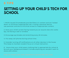 From MCCPTA & MCPS: Setting Up Your Child's Tech for Success